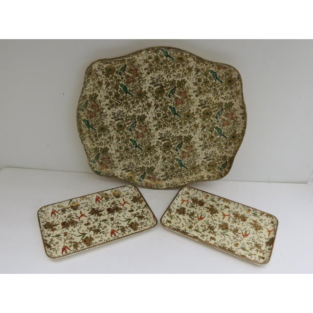Japanese Paper Mache Trays - Set of 3 - Image 2 of 7