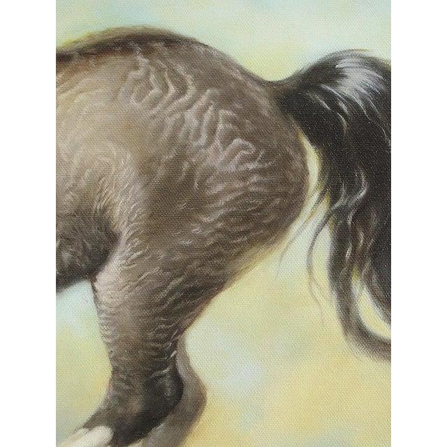 "Ute Simon ""Surprise"" American Bashkir Curly Horse Painting - Image 6 of 9"