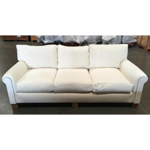 White velvet gilt sofa chairish for White velvet sectional sofa