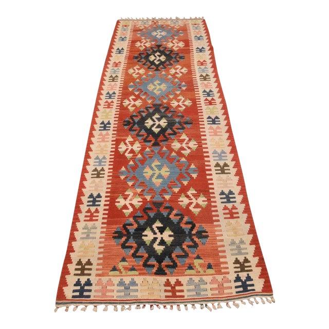 Vintage Handmade Turkish Kilim Runner Rug
