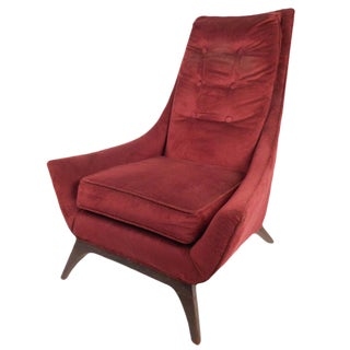 Adrian Pearsall Style Mid-Century High Back Lounge Chair