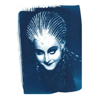 Limited Edition, 30's Vintage Film Photo from Salomé, Cyanotype on watercolor paper