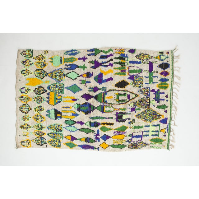 "Vintage Moroccan Azilal Rug - 6'10"" X 4'5"" - Image 2 of 5"