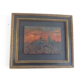 1923 Russian Landscape at Dusk Painting