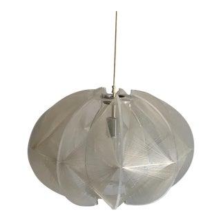 Mid-Century Modern Lucite & String Pendant Light