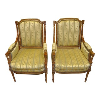1910s French Empire Parlor Chairs - Pair