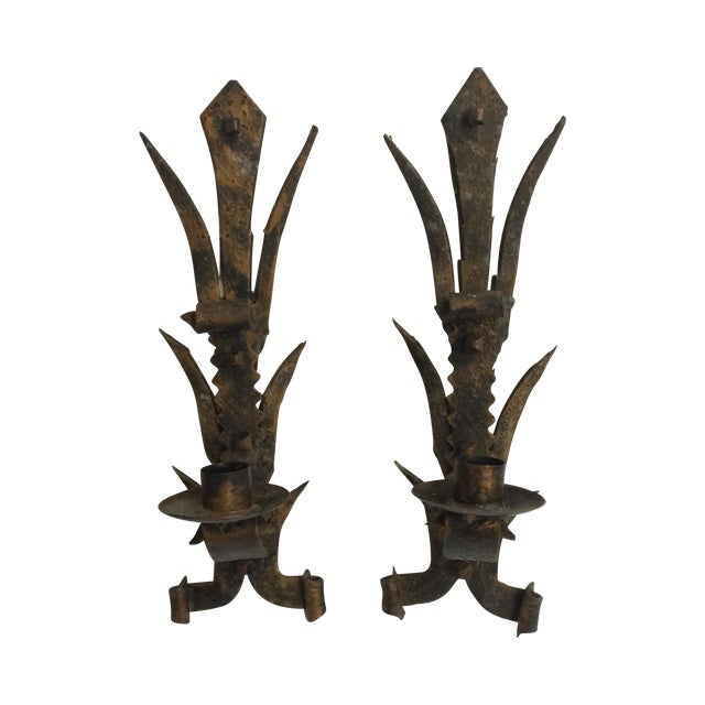 Spanish Revival Hanging Candle Sconces - Pair Chairish
