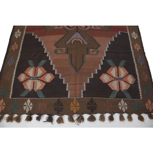 "Hand-Woven Turkish Kilim Rug - 6'7"" X 11'3"" - Image 7 of 10"