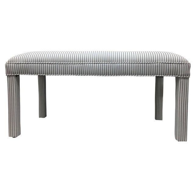 Parker Upholstered Bench in Ticking Stripe - Image 1 of 5