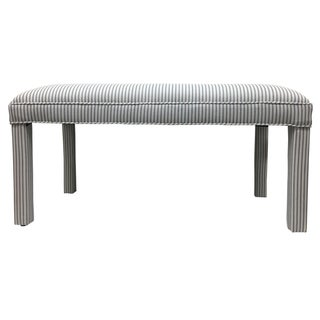 Parker Upholstered Bench in Ticking Stripe