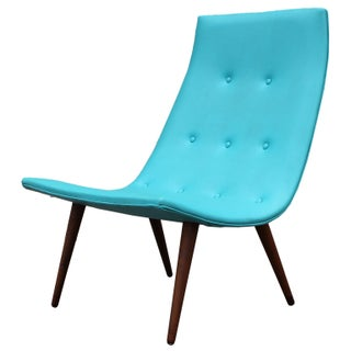 Ultra Thin Turquoise Scoop Chair