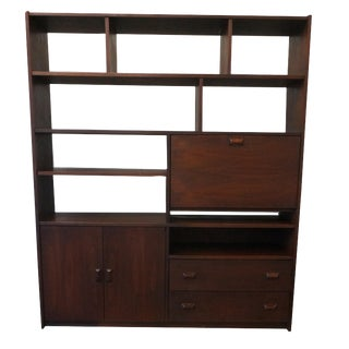 Mid-Century Modern Wall Rosewood Storage Unit / Room Divider