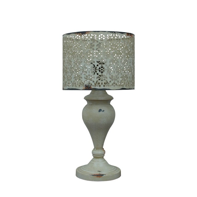 Cream Metal Nostalgia Lamp - Image 1 of 5