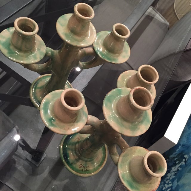 Old Italian Candlestick Holders - A Pair - Image 5 of 6