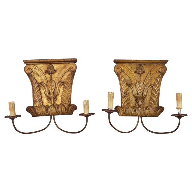 Image of 18th C. Architectural Fragment Sconces - Pair