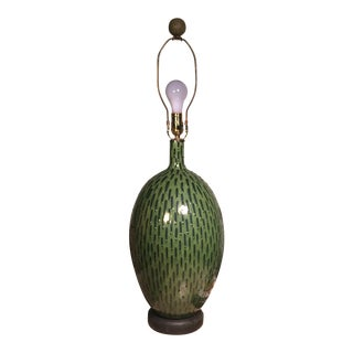 Vintage Green Cactus Lamp