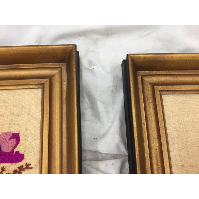 Vintage Floral Needlepoint Panels- A Pair - Image 7 of 7