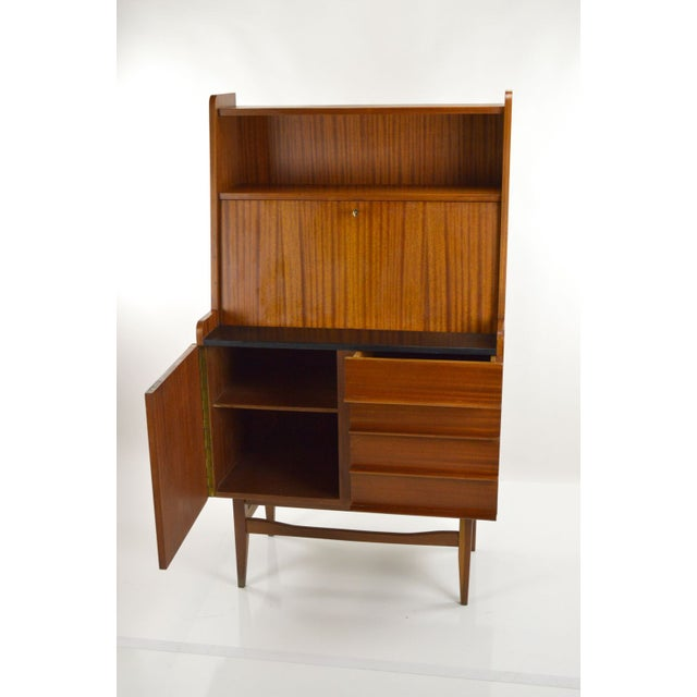 Modern Danish Style Teak Cabinet With Drop Front - Image 4 of 10