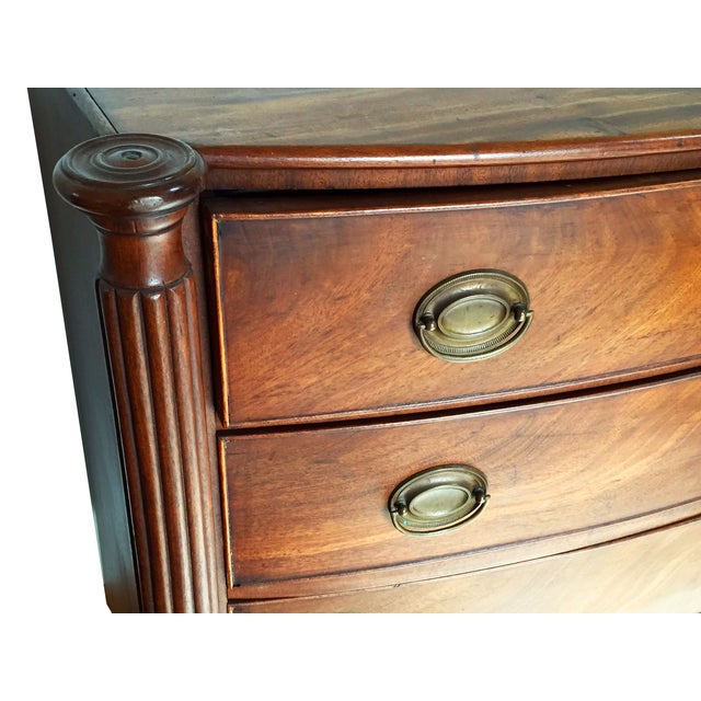 Image of 1820 Sheraton Bow-Front Chest of Drawers