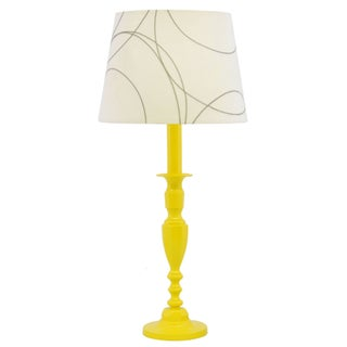 Sunshine Yellow Table Lamp in Luxury Auto Enamel
