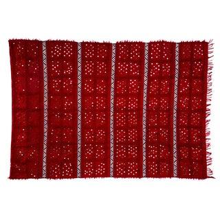 "Handira Red Wedding Blanket - 5'7"" x 8'"