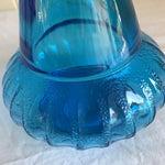 Image of Vintage Blue Glass Decanter Bottle