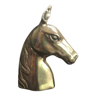 Vintage Solid Brass Horse Equestrian Paperweight