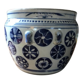 Blue & White Chinese Style Cachepot