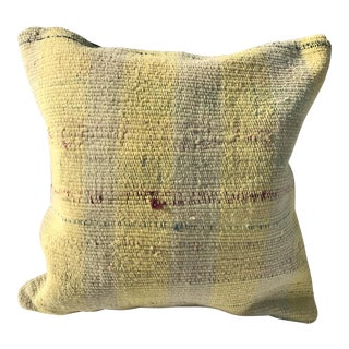 Yellow Kilim Pillow Cover