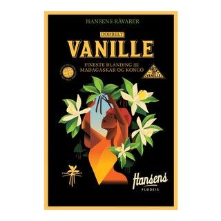 Danish Modern Food Poster, Hansens Vanilla Ice Cream