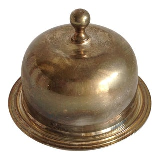Vintage Silver Domed Butter Dish