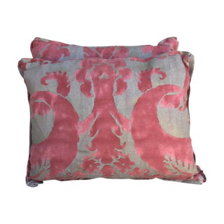 Fortuny Pink & Gold Textile Pillows - Pair