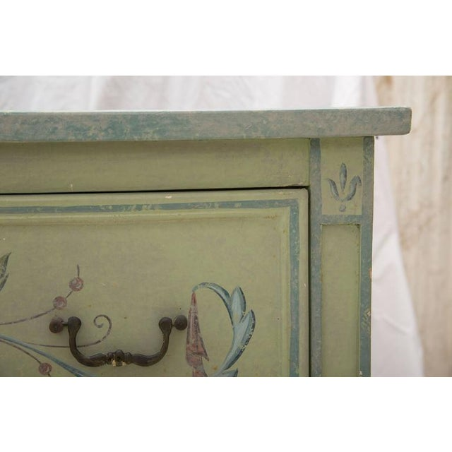 19th Century American Continental Green-Painted Chest - Image 7 of 9