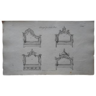 Antique Folio Chippendale Furniture Engraving