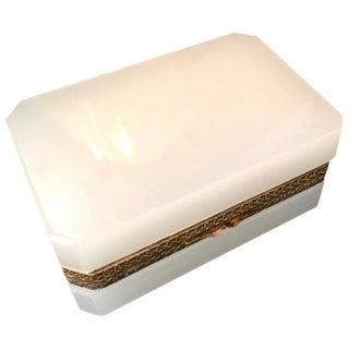 Italian White Glass Murano Box