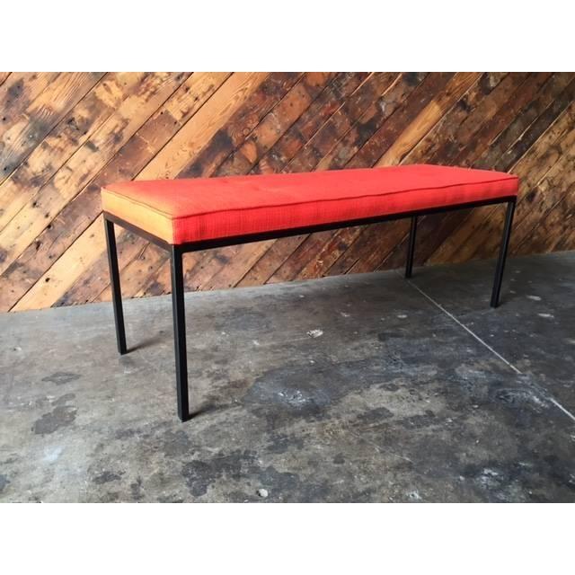 Image of Custom Powder Coated Steel Bench