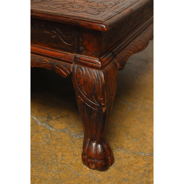 Anglo Indian Carved Low Table - Image 5 of 8