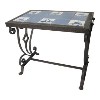 Vintage Arts & Crafts Tile Table