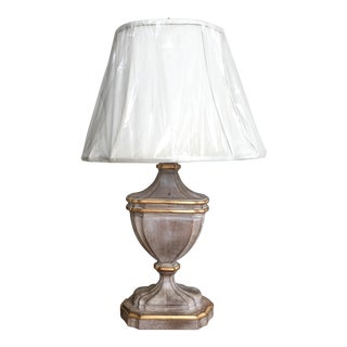 French-Style Cerused Urn Lamp with New Shade