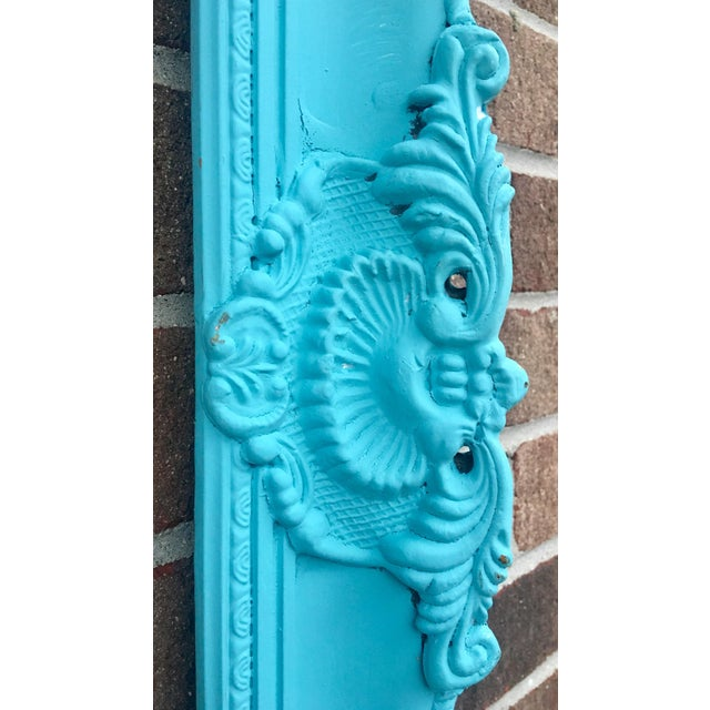 Image of Antique Tiffany Blue Plaster Picture Frame