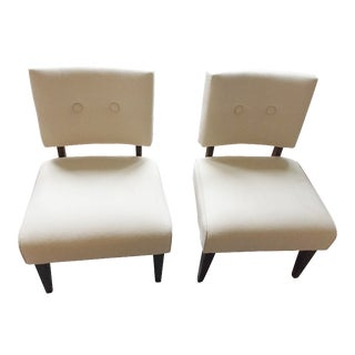 Crate & Barrel Upholstered Chairs - Pair