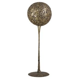 Brutalist Spherical Metal Floor Standing Sculpture