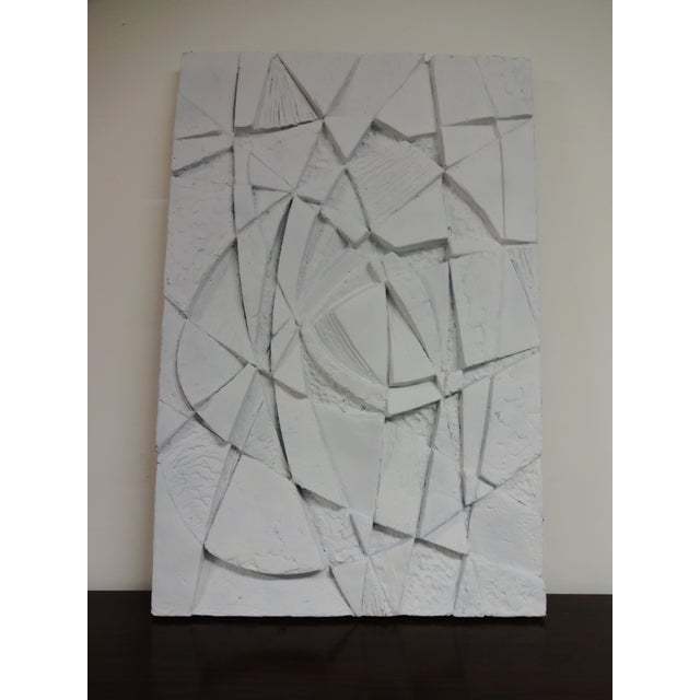 Mid-Century 3D Geometric Wall Hanging Sculpture - Image 2 of 10