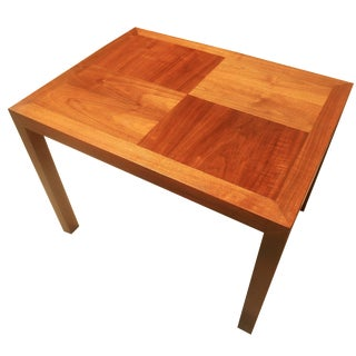 Lane Mid-Century Parquet Side Table