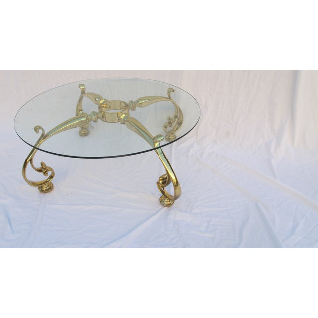 Image of Vintage Hollywood Regency Gold Coffee Table