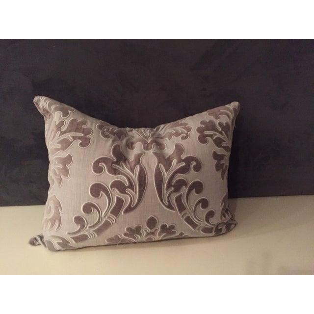 Linen and Velvet Meet Each Other Pillows - A Pair - Image 5 of 8