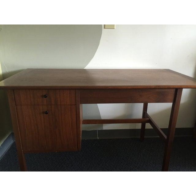 Mid-Century Modern Wooden Desk - Image 6 of 7