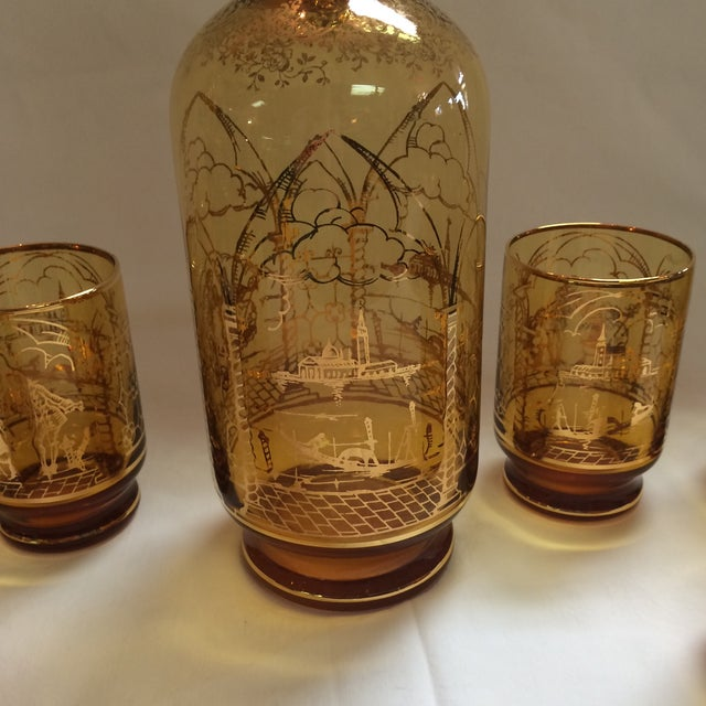 Italian Decanter and Matching Tall Glasses - S/7 - Image 9 of 9