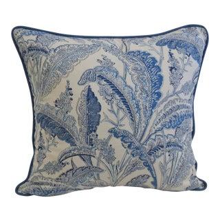 Blue & White Paisley Pillow