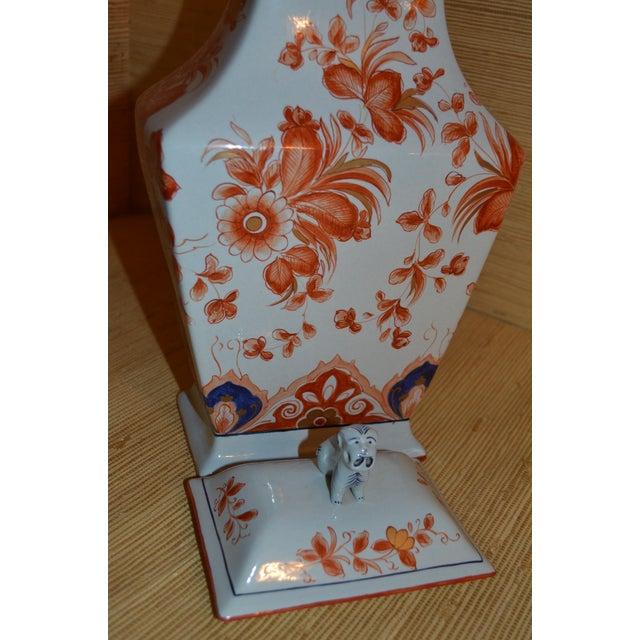 """Italian Meiselman Covered Imari Vase, 18"""" - Image 7 of 9"""